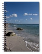 Binigaus Beach In South Coast Of Minorca With A Turquoise Crystalline Water - Paradise In Blue Spiral Notebook