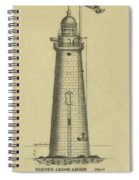Minot's Ledge Lighthouse Spiral Notebook