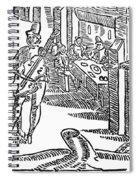 Minstrels, 17th Century Spiral Notebook
