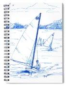 Mint Classic Moth In Blue  Spiral Notebook