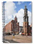 Mint Tower In Amsterdam Spiral Notebook