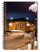 Miodowa Street In Warsaw At Night Spiral Notebook