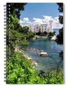 Miramare Castle Beach Spiral Notebook