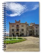 Miramare Castle With Fountain Spiral Notebook