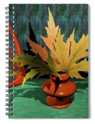 Mirror And Leaves Spiral Notebook