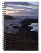 Mirror At Glass Beach Spiral Notebook