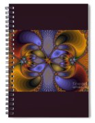 Mirror Butterfly Spiral Notebook