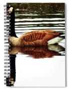 Mirrored Goose Spiral Notebook