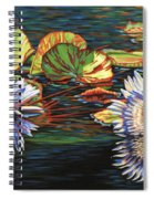 Mirrored Lilies Spiral Notebook