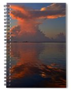 Mirrored Thunderstorm Over Navarre Beach At Sunrise On Sound Spiral Notebook