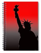 Miss Liberty Abstract Spiral Notebook