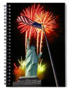 Miss Liberty And Fireworks Spiral Notebook