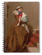 Miss Lilys Return From The Ball, 1866 Spiral Notebook