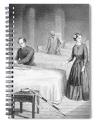 Miss Nightingale In The Hospital Spiral Notebook