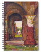 Mission Of San Juan Capistrano By Rowena Meeks Abdy 1887-1945  Spiral Notebook