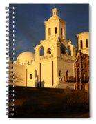 Mission San Xavier Del Bac Last Light Spiral Notebook
