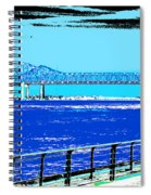 Mississippi River Bridge Poster Spiral Notebook