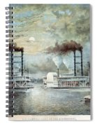 Mississippi River Race, C1859 Spiral Notebook