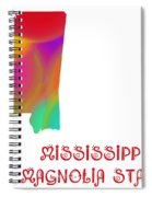 Mississippi State Map Collection 2 Spiral Notebook