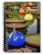 Missouri Botanical Garden Six Glass Spheres And Lilly Pads Img 2464 Spiral Notebook
