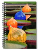 Missouri Botanical Garden Six Glass Spheres And Lilly Pads Img 5490 Spiral Notebook