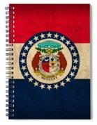 Missouri State Flag Art On Worn Canvas Spiral Notebook