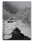 Mist Above The Creek Spiral Notebook