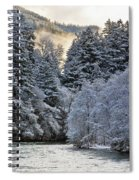 Mist And Snow On Trees Spiral Notebook