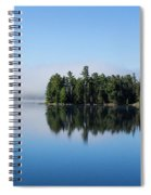 Mist On Lake Of Two Rivers Spiral Notebook