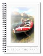 Mist On The Arno Poster Spiral Notebook