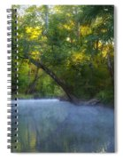 Mist On The Wissahickon Spiral Notebook