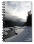 Mist Over A Snowy Valley Spiral Notebook