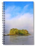 Mist Rising On The Willamette River Spiral Notebook