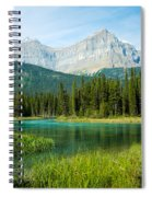 Mistaya River And Mountains Spiral Notebook