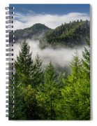 Mists Among The Hills Spiral Notebook