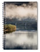 Mists And Bridge Over Klamath Spiral Notebook