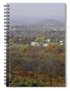 Misty Fall Pano Of The Shenandoah Valley Spiral Notebook