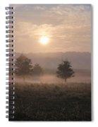 Misty Farm At Sunrise Spiral Notebook