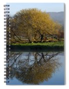Misty Golden Sunrise Reflection Spiral Notebook