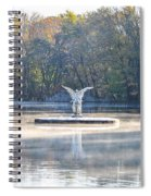 Misty Lake Angel Spiral Notebook
