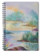 Misty Morn On A  Mountain Lake Spiral Notebook