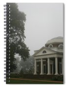Misty Morning At Monticello Spiral Notebook
