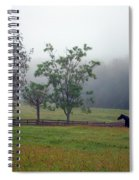 Misty Morning At The Farm Spiral Notebook