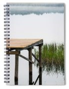 Misty Morning By The Dock Spiral Notebook