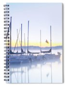Misty Morning Sailboats Spiral Notebook