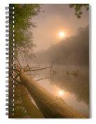 Misty Sun Spiral Notebook