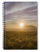Misty Sunrise At Valley Forge Spiral Notebook