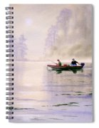 Misty Sunrise On The Lake Spiral Notebook