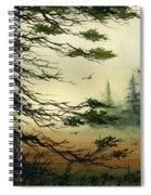 Misty Tideland Forest Spiral Notebook