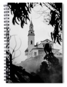 Misty View Of Monserrate Church Spiral Notebook